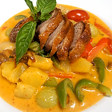 Roasted Duck in house Thai curry