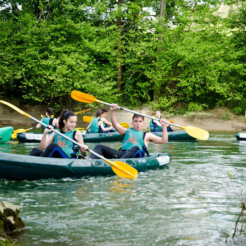 bajada del sella en canoa