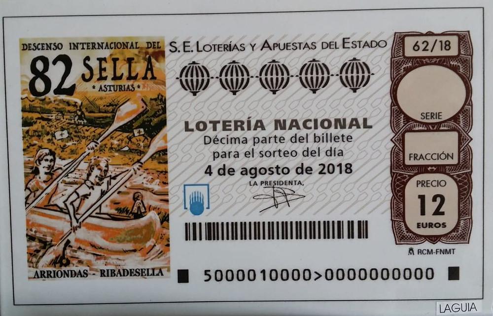 4 de agosto de 2018 - Descenso del Sella El sorteo de la Lotería Nacional
