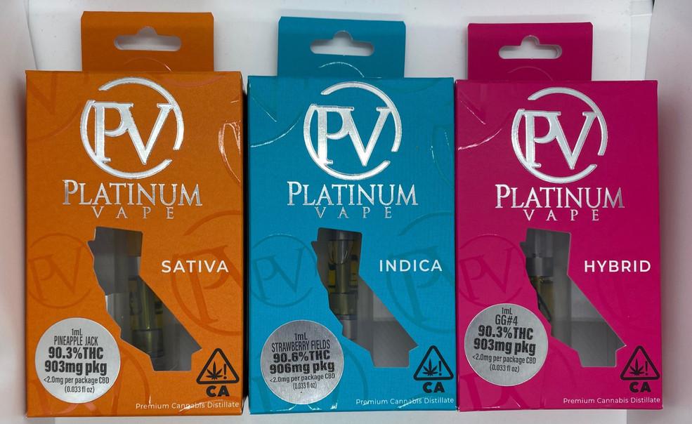 Platinum Vape 1 Gram Carts