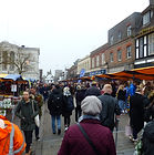 busy outdoor market in St Albans