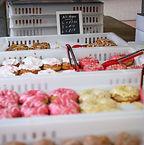 vegan doughnuts at vegan market