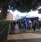 busy outdoor vegan market