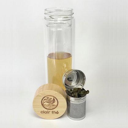 bamboo glass tea tumbler
