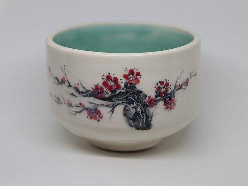plum blossom ceramic cup