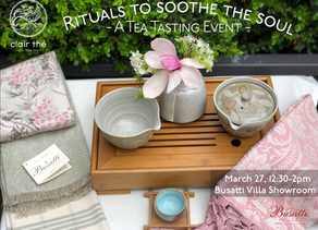 Tea Tasting Event- Rituals to Soothe the Soul