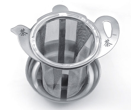 stainless steel strainer with drip bowl