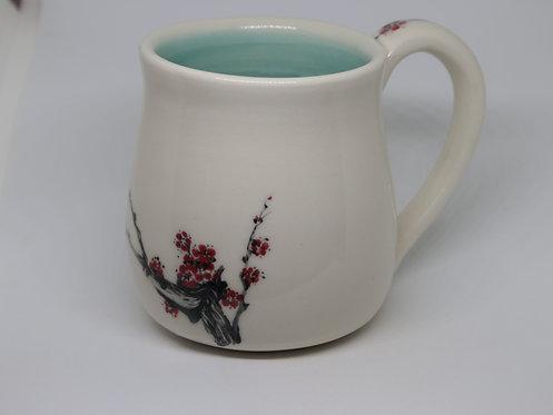 plum blossom ceramic mug