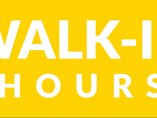 Walk-in Hours (Updated)