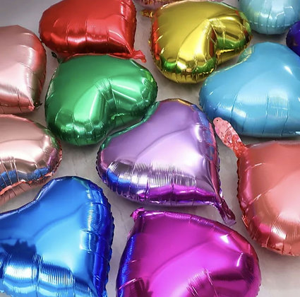 Ballons en aluminium - cœurs