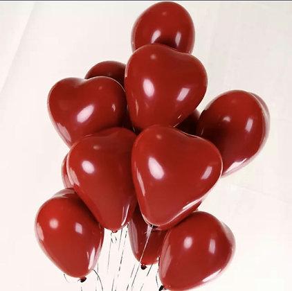 Ensemble - ballons cœurs rouges