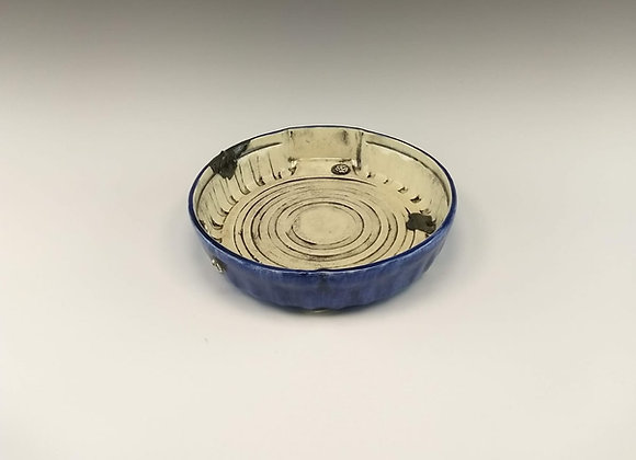 Large Round Pasta Dish - Denim