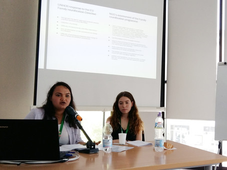 Anjuli and Julia presented their research papers at the Migration Summer School in Palermo