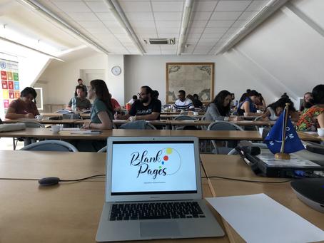 EMMIR Blank Pages interns conduct workshop in Prague, Czech Republic