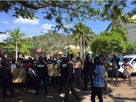 Claiming their rights: Mayotte's asylum seekers demonstrate in the streets