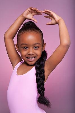 Portrait of a cute little African Americ
