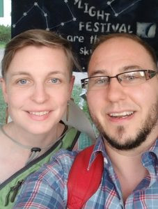 Erin with partner, Dixon