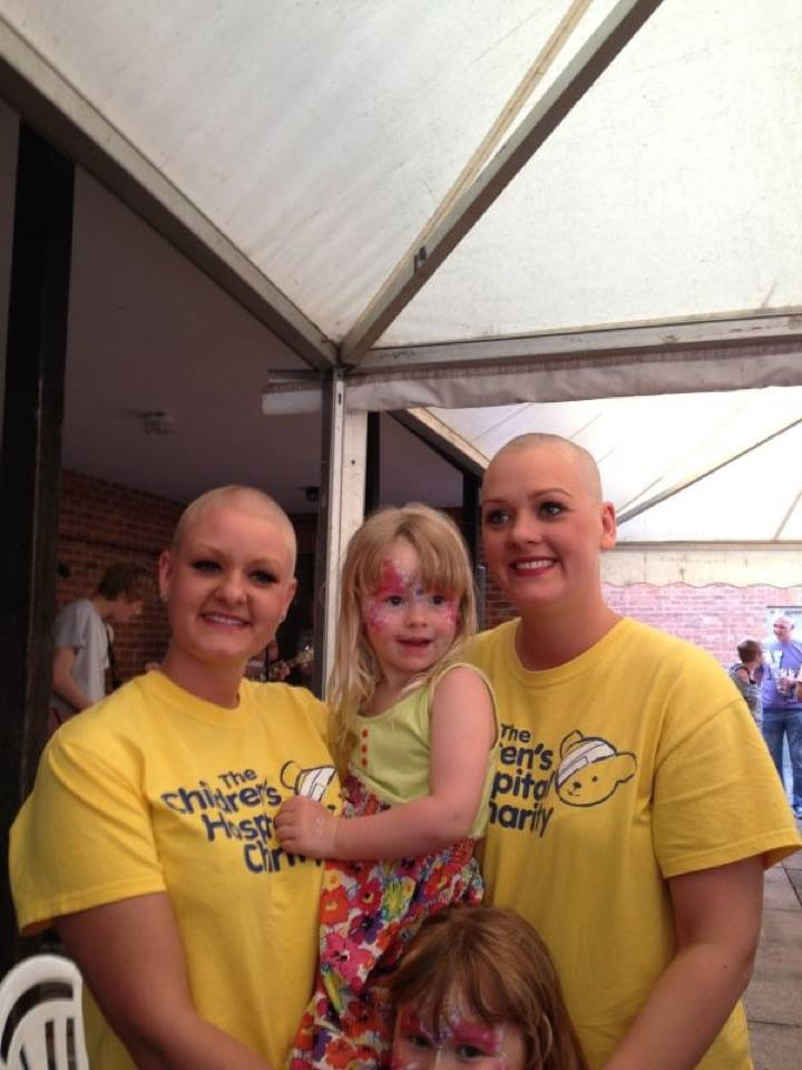 Linzi and Kirsty's Head Shave