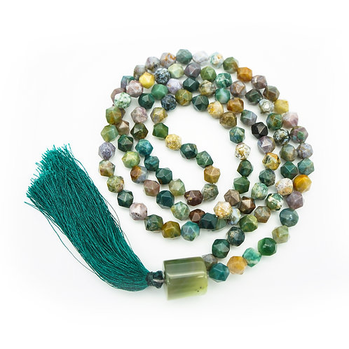 Indian Agate 108 Bead Mala