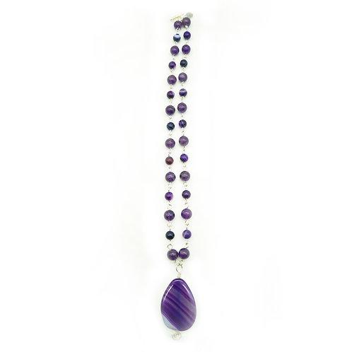 Amethyst & Agate Pendant Necklace