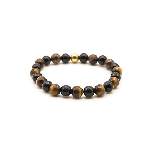 Tiger Eye & Black Onyx Bracelet