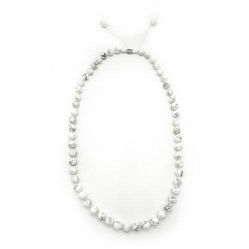 Howlite Half-Mala Necklace