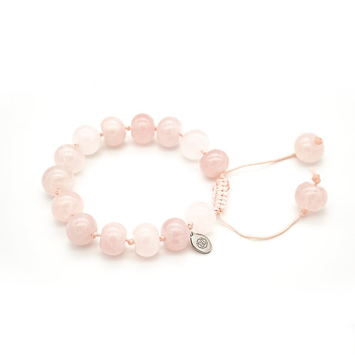Rose Quartz Slider Bracelet