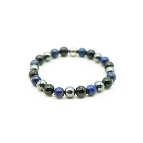 Lapis Lazuli, Black Tourmaline & Hematite Bracelet