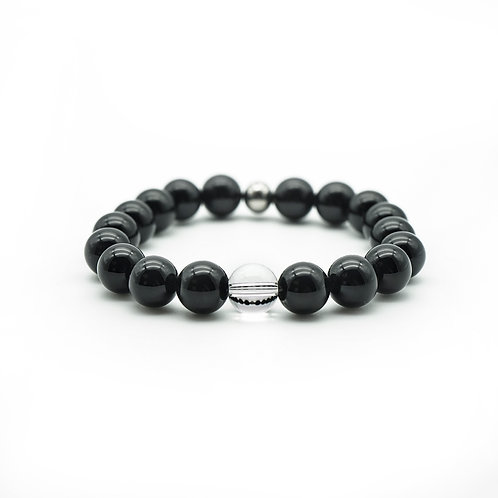 Black Onyx & Quartz Bracelet