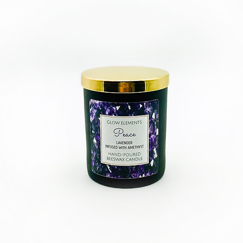 Peace Crystal Candle