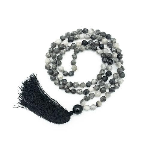 Grey Agate 108 Bead Mala