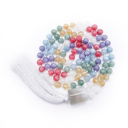 Jade, Citrine & Quartzite 108 Bead Mala