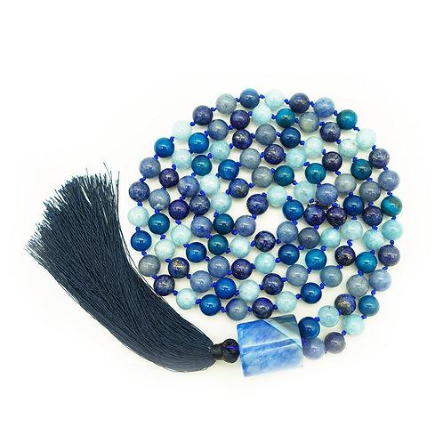 Lapis Lazuli, Aventurine, Agate & Jade 108 Bead Mala