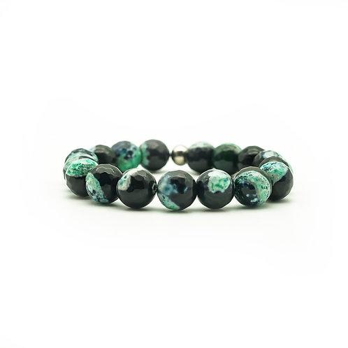 Green & Black Agate Bracelet
