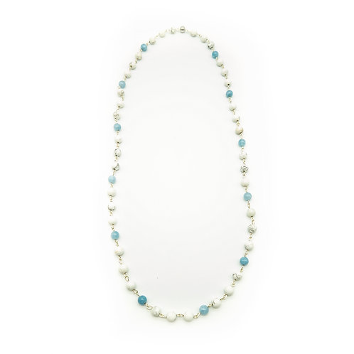 Howlite & Blue Jade Necklace