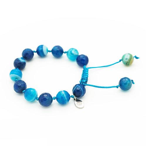 Ocean Blue Agate Bracelet