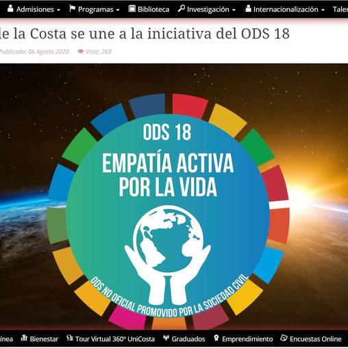 Universidad de la Costa se une a la iniciativa del ODS 18