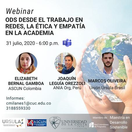 Webinar: ODS desde el trabajo en redes, la ética y la empatía en la academia