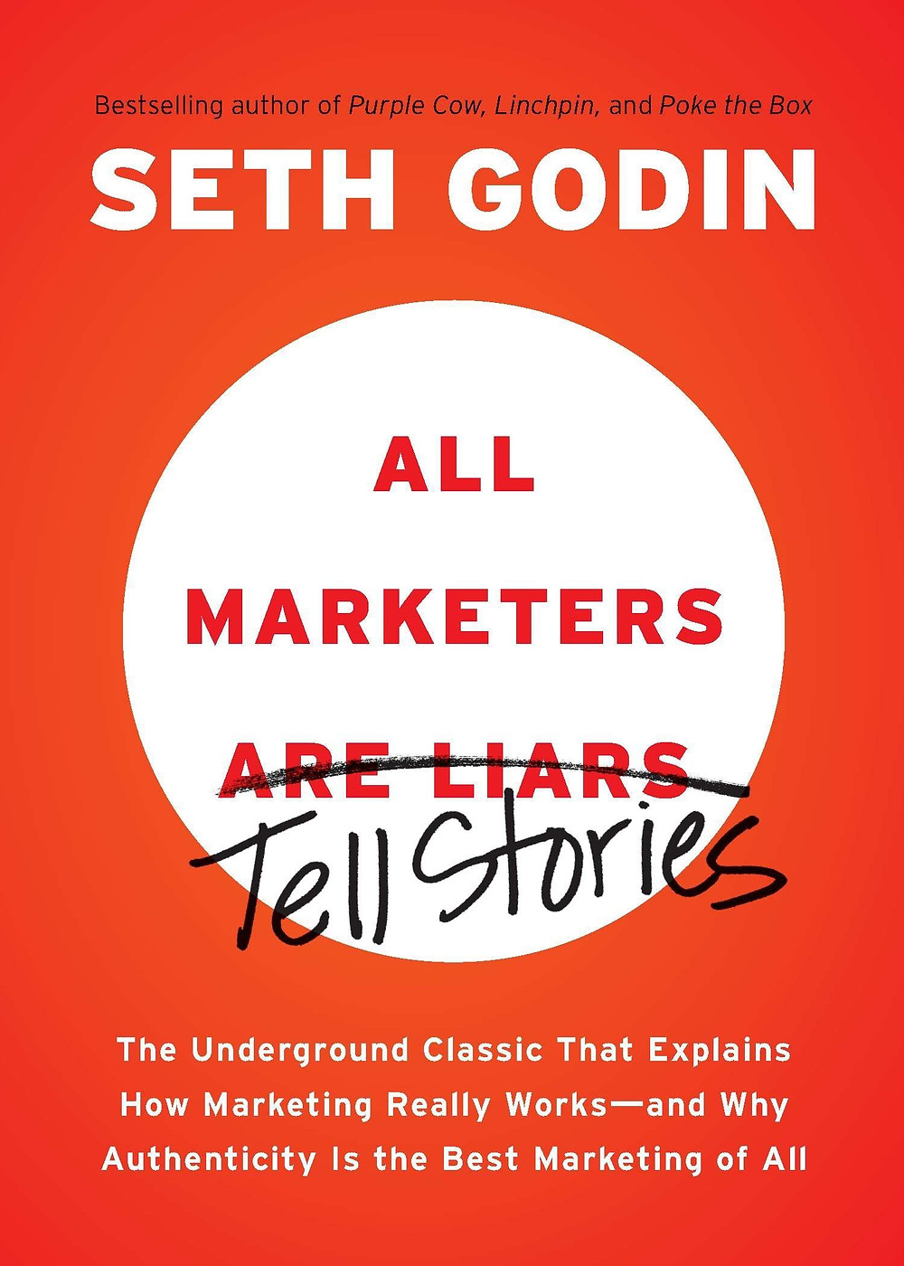 The cover of All Marketers Are Liars by Seth Godin