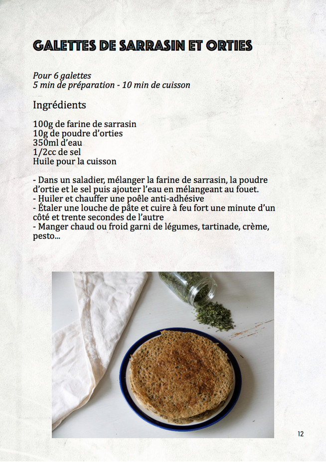 Galettes aux orties + ebook sur les orties disponible !