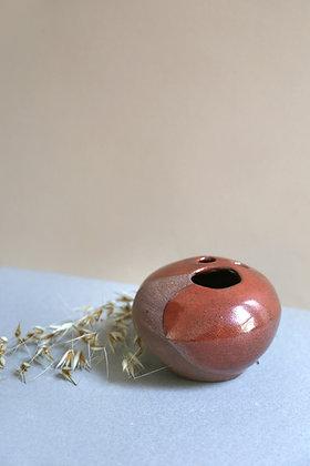 Vase rond en grès