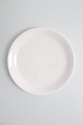 Assiette plate mouchetée marron