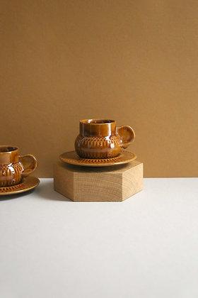2 tasses céramiques & coupelles