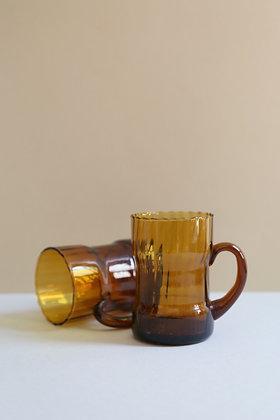 Tasse en verre vermeil strié (plusieurs disponibles)
