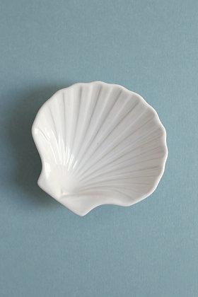 Coupelle coquillage en porcelaine blanche