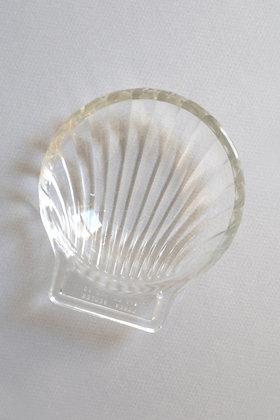 Coupelle coquillage ronde en verre