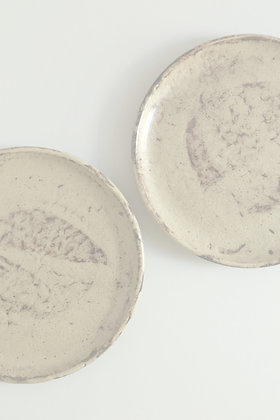 Assiette céramique émaillée faite main