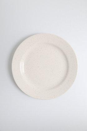 Paire d'assiettes plates mouchetée (plusieurs paires disponibles)