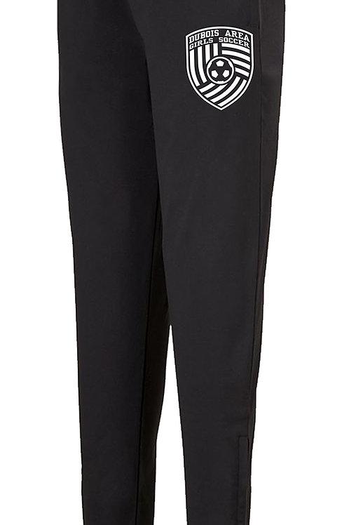 100% Polyester Black Tapered Leg Pant