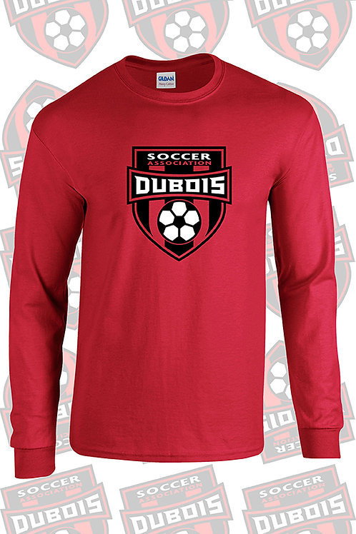 100% Poly Red Long sleeve